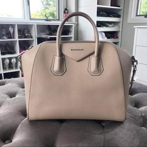 416d68f2e81 Givenchy Bags   Antigona Medium Satchel Beige Bag   Poshmark